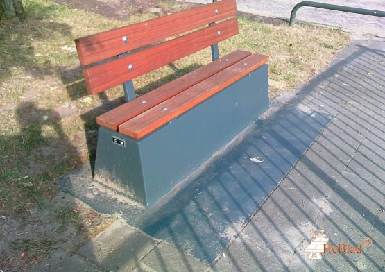 Concrete bench DeLuxe with bottom plate and backrest Anthracite