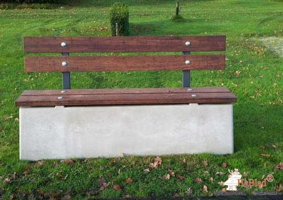Bench DeLuxe with backrest Natural Concrete