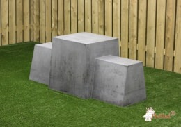 Game Bench, Anthracite-Concrete