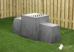 Checkers Bench, Anthracite-Concrete