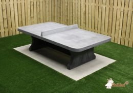 Ping-pong table rounded, Anthracite-Concrete