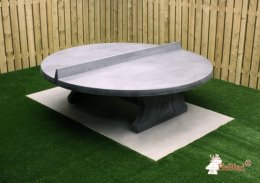 Round Tennistable Anthracite-Concrete