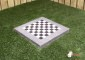 Chess Tile, Anthracite-Concrete