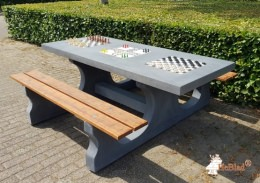 Multi Gaming table (1-3-2) Anthracite-Concrete