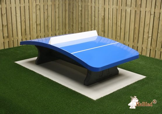 Concrete Foot Volleyball Table Blue