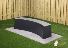 Bench standard oval anthracite-concrete