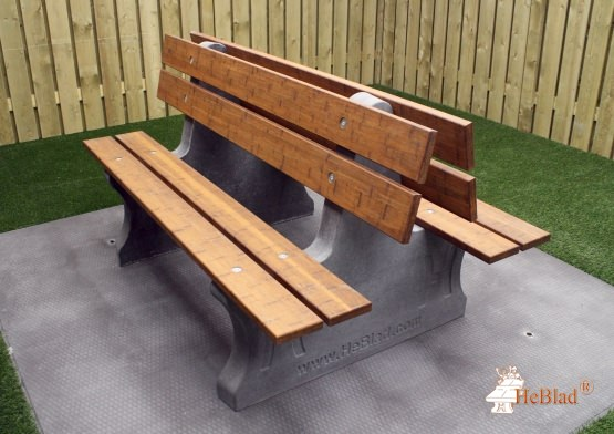 Park Bench Duo anthracite-concrete