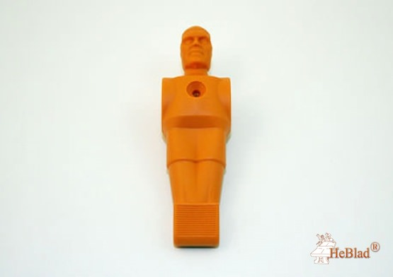 Football figure orange synthetic material
