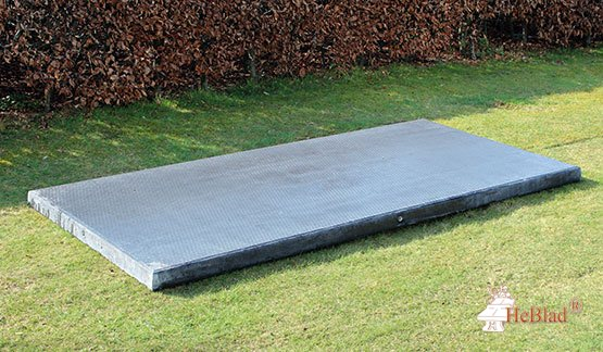 Bottom plate for all brands of Benches Anthracite-Concrete