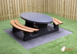 Picnic table DeLuxe Anthracite Oval