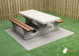 Concrete Picnic table DL Wheelchair–accessible