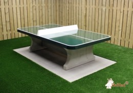 Green Concrete Ping-pong table rounded