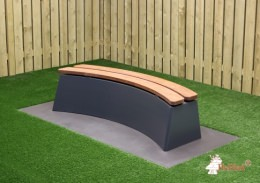 Concrete Bench DeLuxe Anthracite Oval