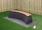 Concrete Bench DeLuxe, Anthracite-Concrete, Oval