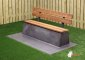 Concrete Bench DeLuxe, Anthracite-Concrete, with a bottom plate