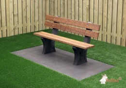 Park Bench with bottom plate Anthracite-Concrete