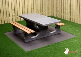 Picnic table DeLuxe Anthracite-Concrete Wheelchair accessible