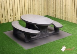 Picnic table Standard Oval Anthracite-Concrete