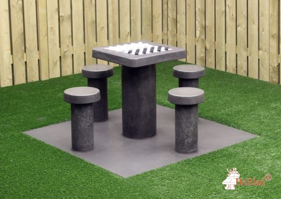 Checkers Table Anthracite-Concrete (4P)