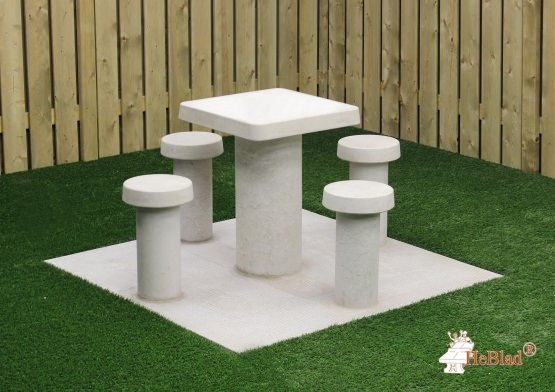 Game Table Natural Concrete  (4P)