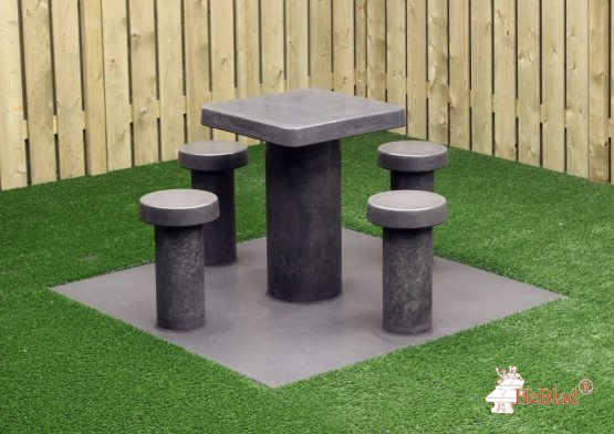 Game Table Anthracite-Concrete (4P)
