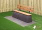 Concrete Bench DeLuxe, Anthracite-Concrete, with backrest