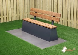 Concrete bench DeLuxe with backrest Anthracite
